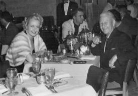Elaine Townsend Dining with Unknown Gentleman Friend