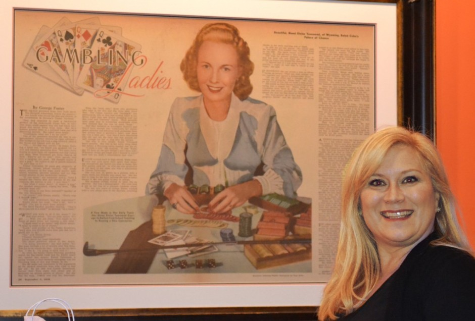 Robin DeTrude and Portrait of Elaine Townsend.