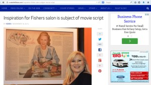 Robin DeTrude and Portrait of Elaine Townsend: Inspiration for Fishers Salon is Subject of Movie Script