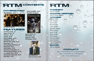 Table of Contents of Rock Thiz Magazine April 2015 Issue